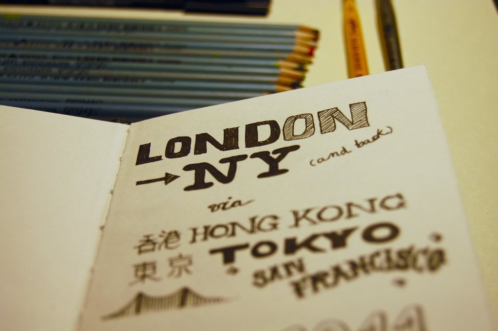 London to New York (via Hong Kong, Macau, Tokyo and San Francisco)